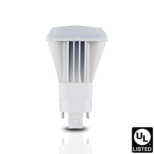 Luxrite LR23577 10W Vertical LED Biax Bulb, 26W Equivalent, G24Q/GX24Q CFL Replacement, Rotatable, Ballast Compatible 120-277V, 3500K Natural White, 1000 Lumens, 4 Pin Base, UL-Listed, 1-Pack Plug In Plc 4 Pin