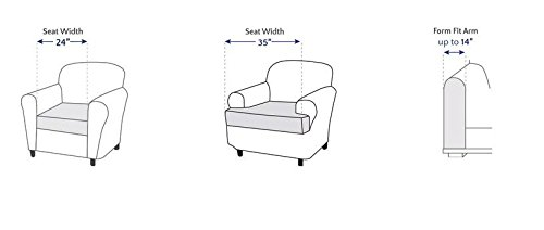 Sure Fit Stretch Stripe Separate Seat T-Cushion Chair Slipcover - Sand (SF37727) by Surefit (Image #3)