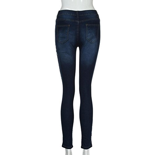 Stretch Brodé Ripped Jeans Denim Pants Pencil Floral Winwintom Pantalons Femmes 29HEID
