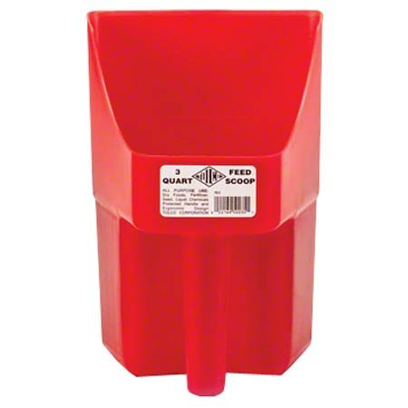Tolco Heavy-Duty Plastic Scoop, 3 quart, Red 240124