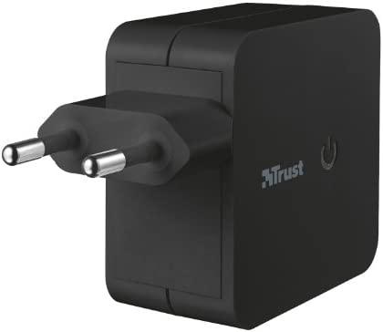 Trust Universal - Cargador de móvil doble (USB, 12W), negro