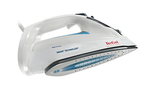 Tefal Smart Protect FV4980 Dampfbügeleisen (2600 Watt, extra Dampfstoß 180 g/min, 0,27 Liter) weiß/blau 2