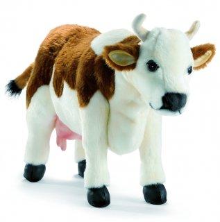 White Plush Cow - Brown/White Cow Plush Soft Toy by Hansa. 40cm. 4621 by Hansa