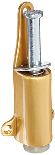 Rockwood 459.10 Bronze Spring Loaded Plunger Stop, 8 X 3/4'' OH SMS Fastener, 1-7/8'' Projection, 1-3/8'' Base Width x 5-3/8'' Base Length, Satin Clear Coated Finish by Rockwood