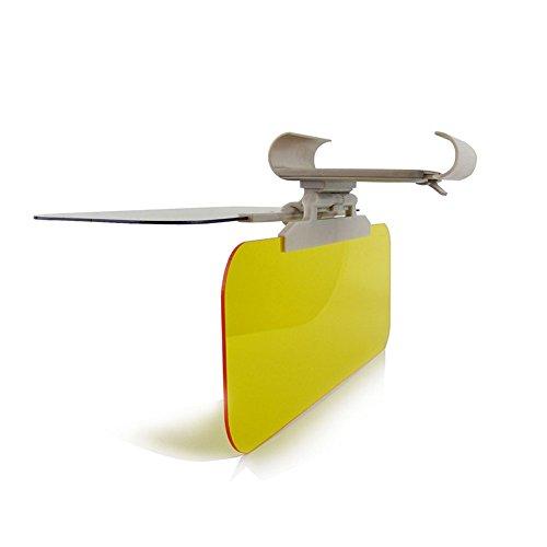 TuoO Transparent Windshield Car Sun Visor -2 in 1 for Day&Night Windshield Visor Night Anti-Glare Universal Sunshade and Night Vision Anti-Dazzle Windshield Driving Visor