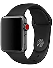 Sport Band for Apple Watch, Soft Silicone Sport Strap Replacement Bands for iWatch Apple Watch Series 4, Series 3, Series 2, Series 1/ 38MM & 40MM