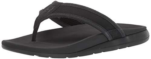 UGG Men's TENOCH Ballistic Sandal Flip-Flop, Black, 11 Medium US (Ugg Flip Men Flop)