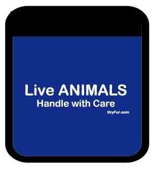UPC 181412000724, Pet Carrier Comfort Grips - Live Animals (Blue)