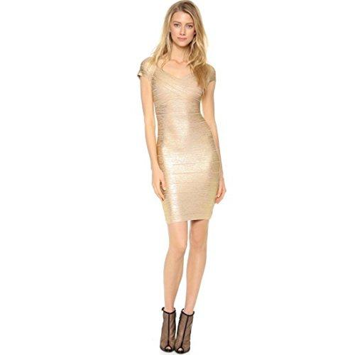 Kleid Damen Kleid Gold Damen Damen Blau HLBCBG Gold HLBCBG HLBCBG Gold Blau Kleid Blau wxT5q5dE