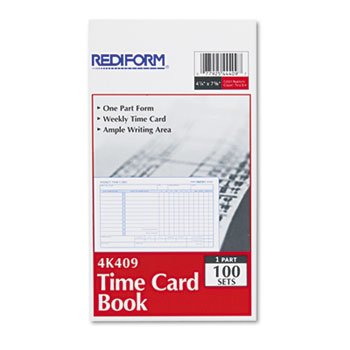 Rediform Time Card - RED4K409 - Employee Time Card