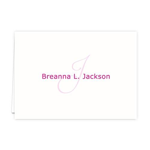 Monogramed Notecard Foldover Personalized Stationery - Set of 12 - 12 plain, white envelopes Photo #6