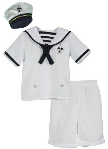 Sailor Outfit Ideas (Precious Angels Toddler Boys White Nautical Bodysuit and Sailor Hat Set - Size 2T)
