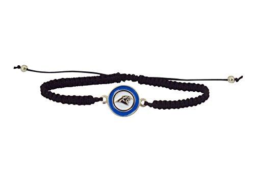 NFL Carolina Panthers Braided Logo Bracelet ()