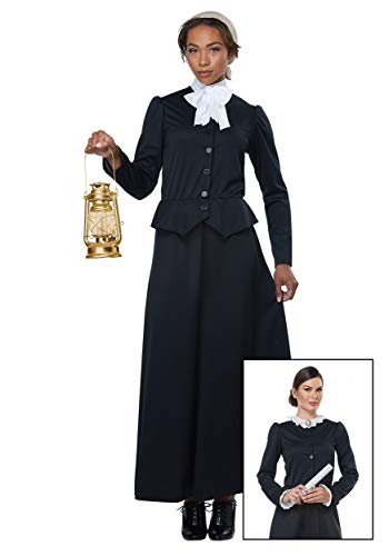 California Costumes Women's Susan B. Anthony - Harriet Tubman - Adult Costume Adult Costume,  -black/White, X-Large