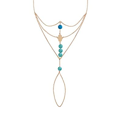 style classique de 2019 avant-garde de l'époque Bons prix MATY - 0419494 - Parure de main plaqué or rose pierres ...