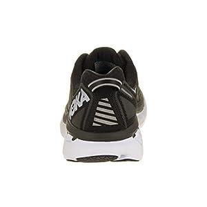 HOKA ONE ONE Women's Clifton 4 Black/White Running Shoes - back side