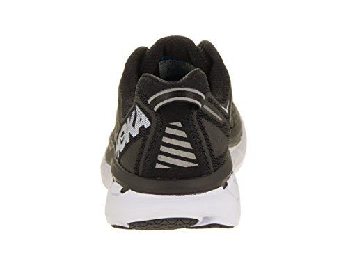 HOKA ONE ONE Women's Clifton 4 Black/White Running Shoe - backside