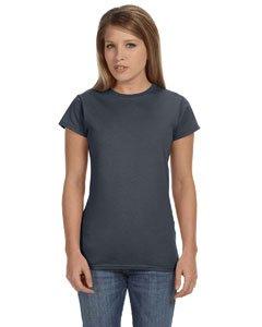 (Junior girls softstyle t-shirt. (Dark Heather) (Large))