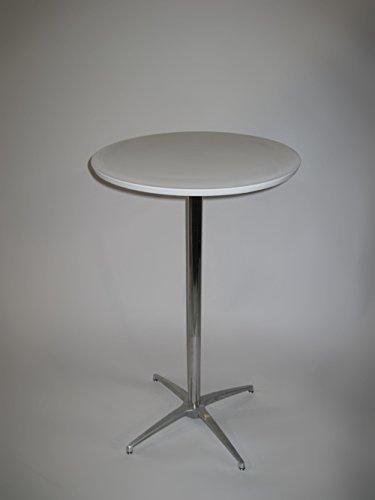 "Aluminum 42' Bar Table - 24'' Round Composite Resin Cocktail/Bar Table, 42'' H. Chrome metal leg on a 24"" (60cm) spider base."