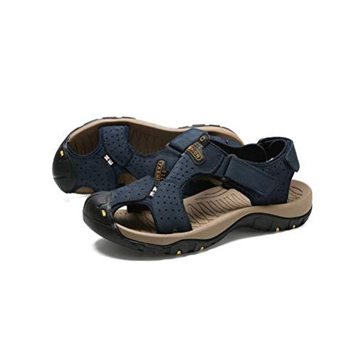 Playa Y Transpirables Cuero Antideslizantes De Moda Juvenil Verano Sandalias Blue Lyzgf Para Hombres vnAxPwEaqg