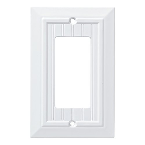 (Franklin Brass W35267-PW-C Classic Beadboard Single Decorator Wall Plate/Switch Plate/Cover, Pure White)