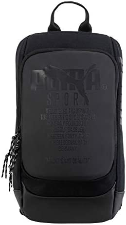 PUMA Forecast Multitude Backpack Sling Shoulder Bag (Black)