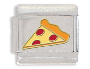 - Clearly Charming Pizza Italian Charm Bracelet Link