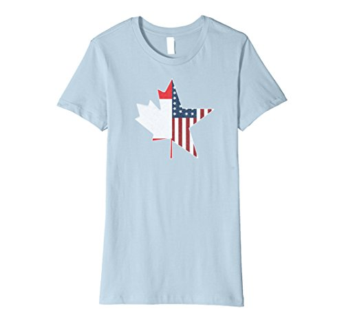 Women's Team North America | USA Canada Connection T Shirt Small Baby Blue
