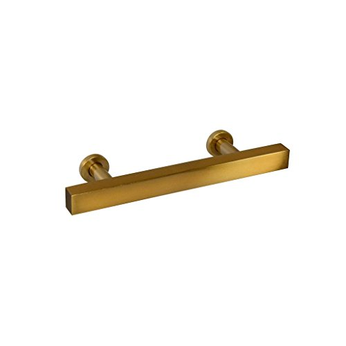 #1500-3 CKP Brand Hampton Collection Bar Pull, Amber Gold - 10 - Amber Dresser