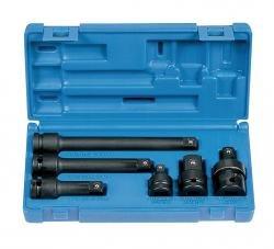 Skt 1/2 Inchdr Ext & Adapter 6Pc Set-2Pack