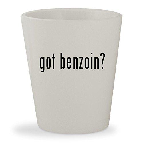 got benzoin? - White Ceramic 1.5oz Shot Glass