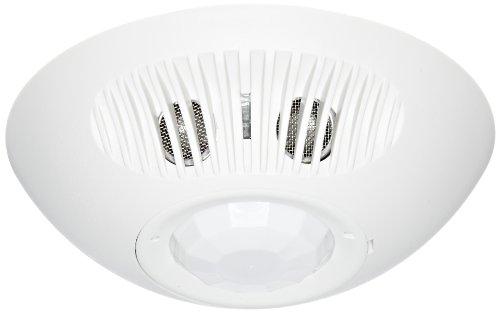 (Hubbell ATD1000C Ceiling Sensor, Adaptive Technology, Ultrasonic, Passive Infrared, White, 1000sqft Max Sensing Range)