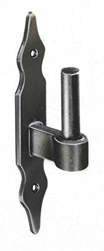 2 St/ück schwarz 160 mm lang Pollmann Baubeschl/äge 1110153 Haken J zum Einschrauben Dorn /Ø 13 mm