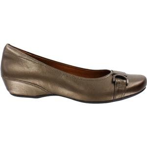 Clarks Women's Concert Band Brown Metallic Leather 7 Narrow