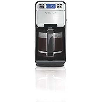 Hamilton Beach 46205 12-Cup Programmable Coffee Maker, Stainless Steel/Black