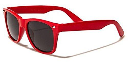 Kids Childrens 80's Classic Vintage Retro Wayfarer Style Sunglasses - (Red)