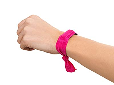 Griffin Black/ Hot Pink Ribbon Wristband 2-Pack for Fitbit and for Sony Fitness Trackers
