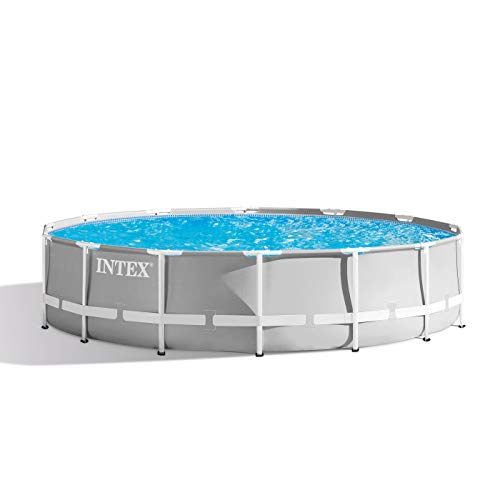 Intex 14ft X 42in Prism Frame Pool Set with Filter Pump, Ladder, Ground Cloth & Pool Cover (Intex Ultra Frame)