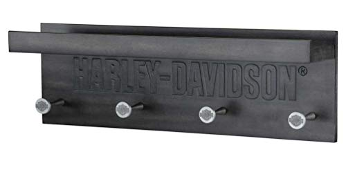 Harley-Davidson Engraved Wooden Pub Rack - 20 x 4.5 x 6.5 inches HDL-15321
