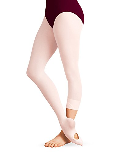 Body Wrappers Dance Clothes - Body Wrappers Women's Total Strech Convertible Tights - A31, Ballet Pink, Small/Medium
