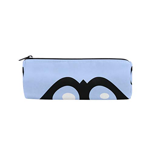 IMOBABY Halloween Shapes Eyes Cylindrical Pencil Case Pen Bag, Multi-Functional Stationery Pouch Zipper Bag Student Zip Pencil Holders Pouch Gift Travel Makeup Bag