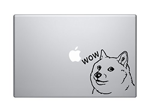 "7/"" x 5/"" computer laptop doge sayings such wow vinyl decal sticker meme nerd"