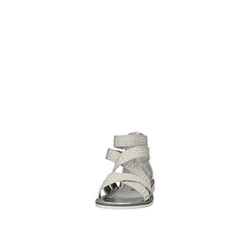 In Sandali white Bianco 64026 Asso Kids Scarpe Tessuto taUqPxn