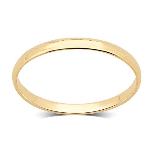 DiamondMuse 2 mm Plain Wedding Band in 10K Yellow Gold (9) by DiamondMuse (Image #2)