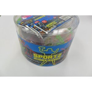 288 Bands Pii Sportz Rubba Bandz Shaped Rubber Bands Bracelets 24 Packs Per Tub with Free Necklace by pii (Image #1)