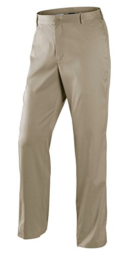 Nike Men's Dri-FIT Flat Front Tech Golf Pants, Khaki, 36W x (Nike Khaki Pants)