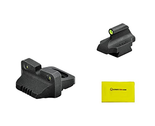 Meprolight REMINGTON 870, 11-87 RIFLE (POST -2009) SIGHTS + Ultimate Arms Gear Gun Cleaning Cloth (Rifle Sights Remington 870)