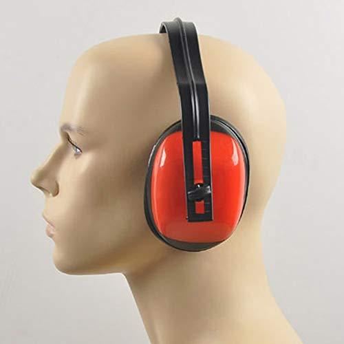 Rouge et Noir Casque antibruit Professionnel pour la Chasse au tir R/éduction du Bruit du Sommeil Casque antibruit pour Casque antibruit