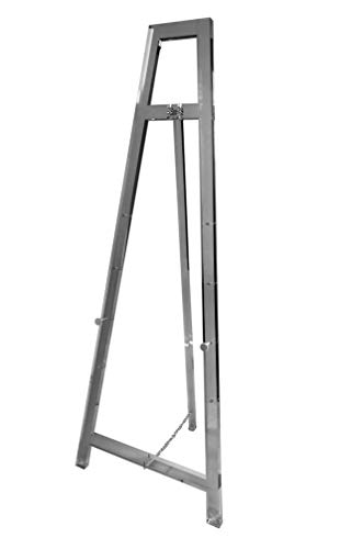 """Designstyles Decorative Acrylic Easel Stand - Adjustable Floor Display for Art Pieces, Signs, Mirrors and Chalk/Dry Erase Boards - 58"""" Tall, Smoked Acrylic for Classy Exhibits and Paintings from Designstyles"""