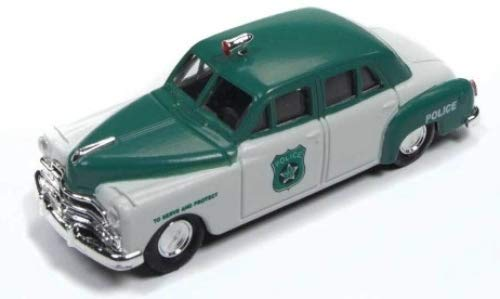 Dodge Meadowbrook 4-Door Sedan, White/grün, Police (USA) , 1950, Model Car,, Classic Metal Works - Sedan Meadowbrook Dodge 1950